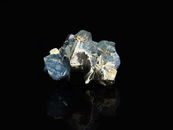 Fluorite on morion - Russia, Bykov, Siberia